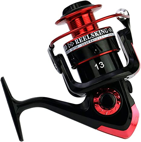 elegantstunning 13 Ejes de Metal Reel Fishing Left/Right Spinning ...