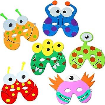 German Trendseller 8 x Monster Masken aus Schaumstoff ┃ für Kinder ...