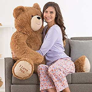 Vermont Teddy Bear - Big Bear Sweetheart, 3 Feet Tall, Brown