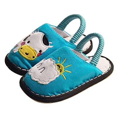 Cwait Kids Cute Bunny House Slippers Indoor Slipper Toddler Little Kid