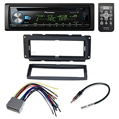 61zyAZwYSVL._SY463_ amazon com pioneer car stereo reciever dash install mounting car stereo wire harness at gsmx.co