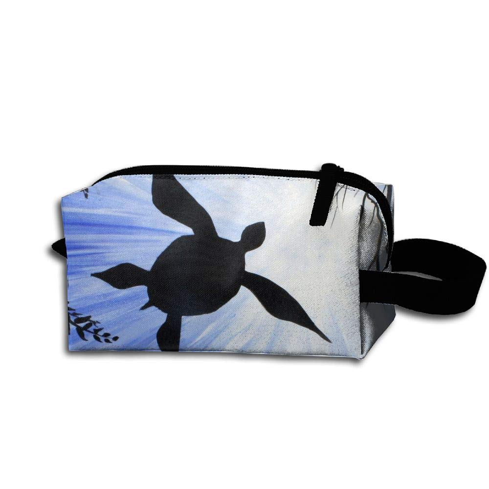 Makeup Cosmetic Bag Underwater Animal Pattern Medicine Bag Zip Travel Portable Storage Pouch For Mens Womens