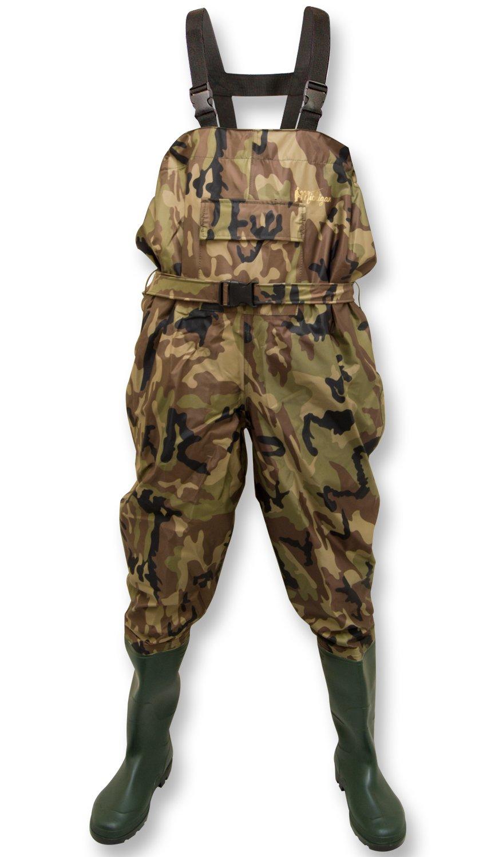 Michigan - Waders de pêche avec ceinture - nylon/imperméable - style camouflage - taille 39,5 à 47