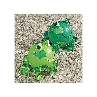 12 Inflatable Frog Beach Balls