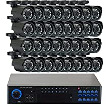GW Security VD32C85HB900TV 32 Channel 960H HDMI Surveillance DVR System with 32 x 900TVL Security Cameras