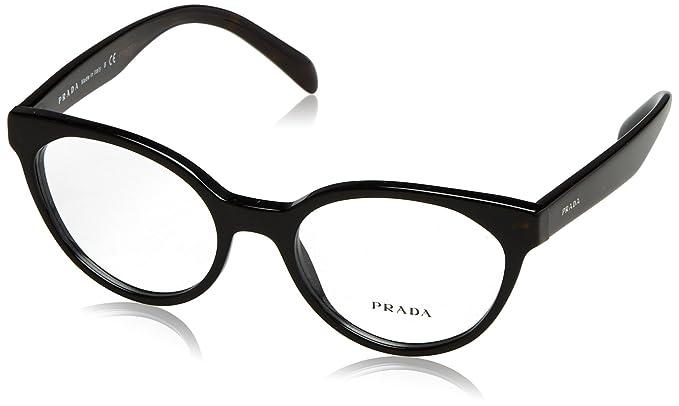 prada pr01tv eyeglass frames 1ab1o1 51 black
