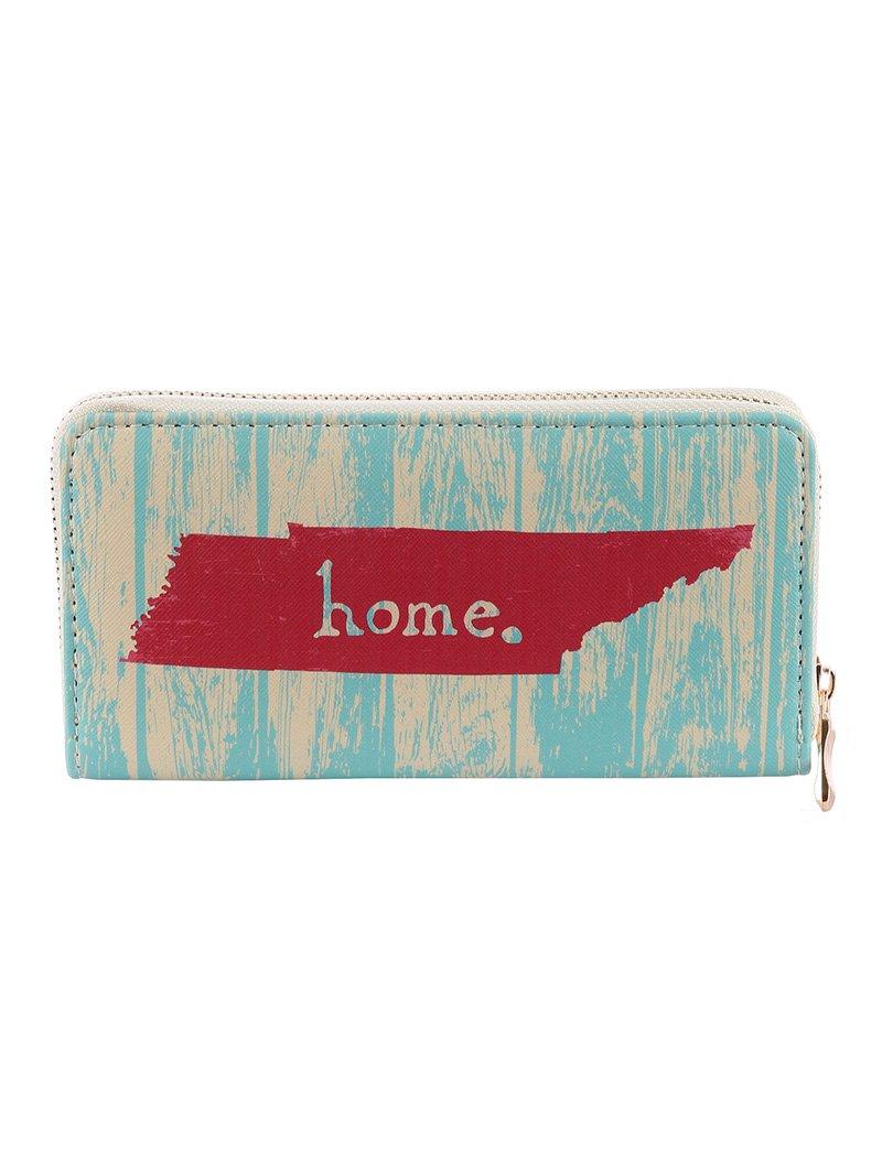 Tennessee Home Print Vinyl Clutch Wallet Bag (377081 Multi Color)