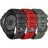 ANCOOL Compatible Fenix 5X Plus Band 26mm Easy Fit Silicone Smartwatch Bands for Fenix 5X/Fenix 5X Plus/Fenix 3/Fenix 3…