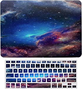 Celestial Event Laptop Keyboard Membrane Protective Shell Set Bright Galaxy Plastic Hard Case Shell & Keyboard Cover for MacBook Fashion Shell Set Keybord Skin Decal ly2067jwuz88