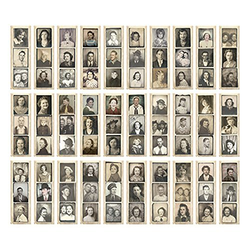 Photobooth Vintage Photos by, 6 x 1.75 Inches, 30 Strips, Assorted, -