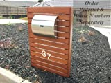 MPB1402 Semi Curve Lockable Mailboxes Stainless Steel Mail Boxes Modern...