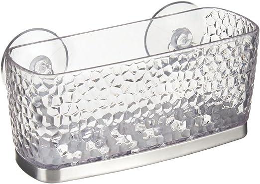 Inter Design Kitchen Sink Suction Holder Durable Clear Plastic Home Organizer