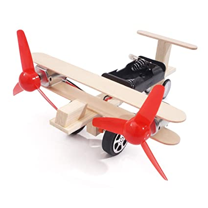 Diecasts & Toy Vehicles Propeller Power Gliding Aerodynamics Aircraft Toy Kids Gift Diy School Educational Craft Model Wood Battery Powered Technology