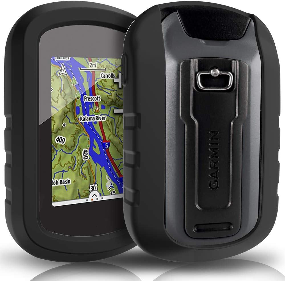 Tusita Hülle Für Garmin Etrex Touch 25 35 35t Silikon Schutzhülle Skin Handheld Gps Navigator Zubehör Schwarz Sport Freizeit