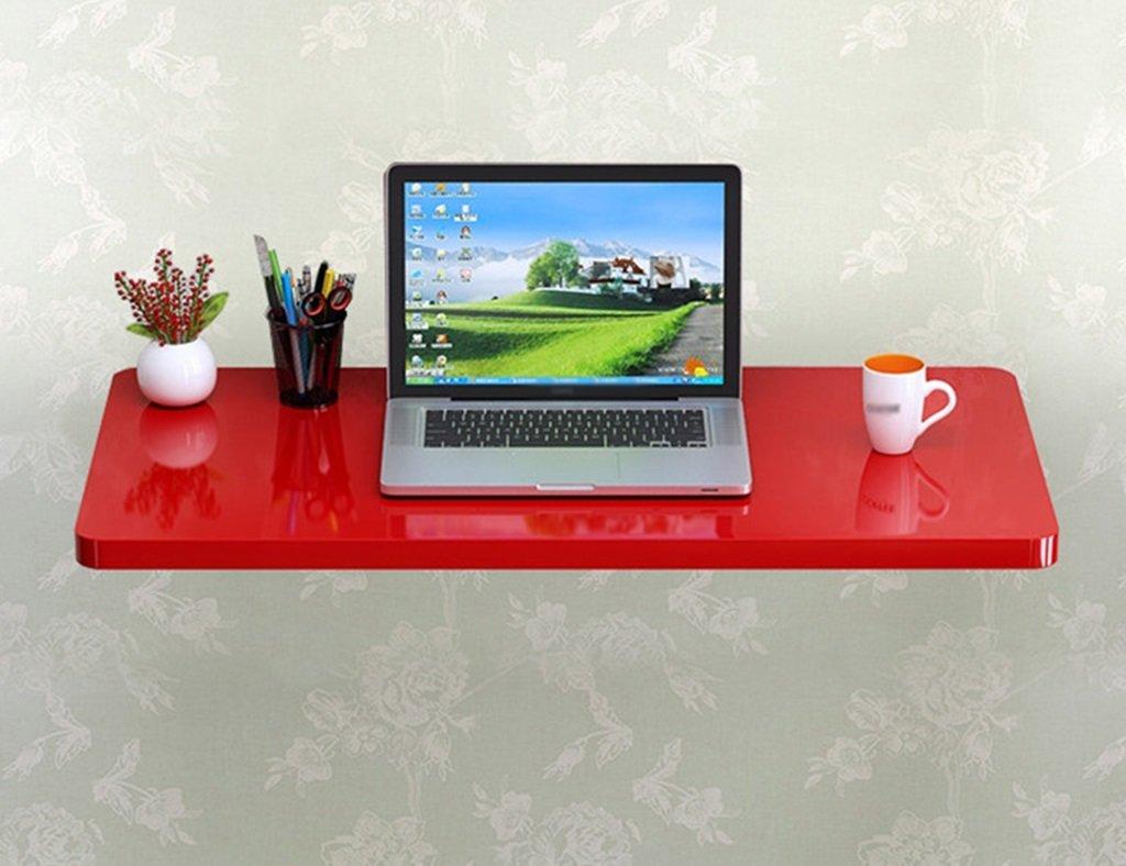 壁掛けラップトップデスクペイント折り畳み式コンピュータデスク壁掛けテーブル学習テーブルダイニングテーブルカラーサイズオプション ( 色 : 赤 , サイズ さいず : 60cm*40cm ) B07B75TYKK 60cm*40cm|赤 赤 60cm*40cm