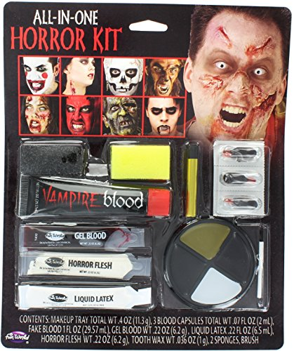 Stick Man Costume Ideas (Fun World Family Size All In One Horror Kit Makeup-Standard)