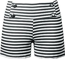 7c5940775e7 Double Trouble Apparel Sailor Girl Striped Shorts in Black