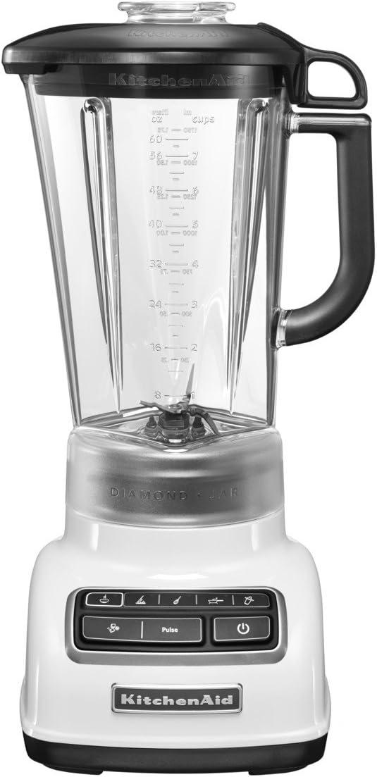 KitchenAid 5KSB1585BWH Batidora de vaso 1.75L 550W Blanco - Licuadora (1,75 L, Tocar, 2000 RPM, 11500 RPM, Batidora de vaso, Blanco)