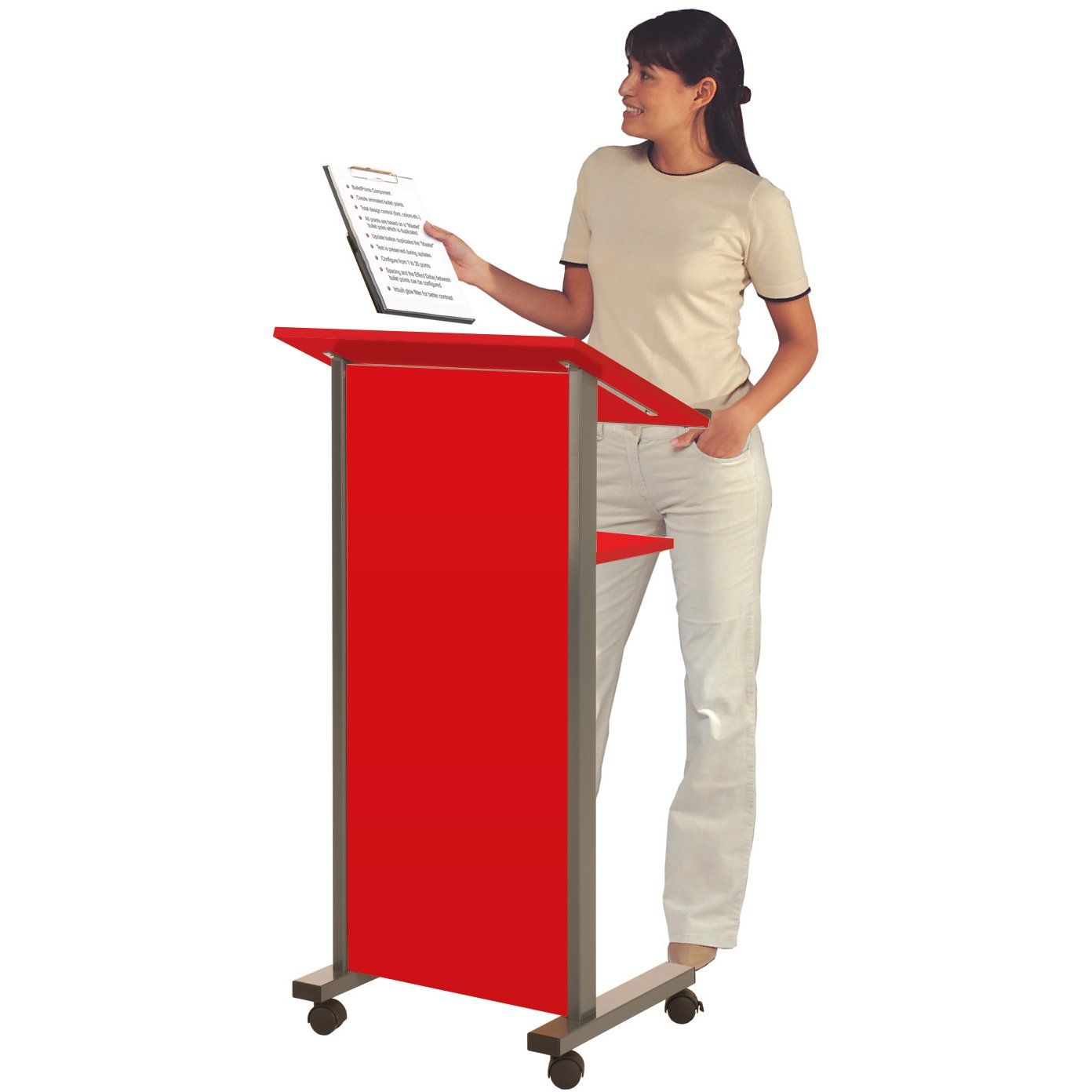 Wonderwall Mobile Coloured Lectern - Standing Desk - choice of 3 colours, incl. (Blue) Wonderwall Products Ltd