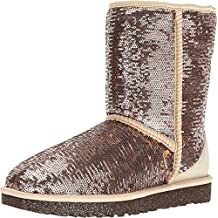 UGG Women's Classic Short Sparkles Champagne Boot