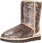 UGG Women s Classic Short Sparkles Champagne Boot