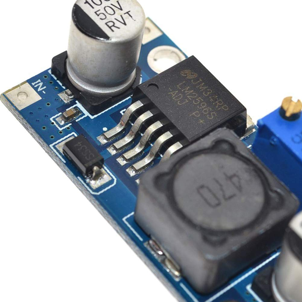 HONG111 8Pack LM2596 DC to DC Adjustable Buck Converter 3-40V to 1.5-35V Power Supply Step Down Module