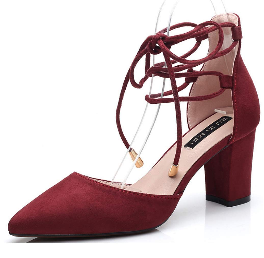 LIANGXIE damen Ankle Strap Strap Strap Pumps Ladies Triple Straps Low Mid Block Heel Faux Suede Casual schuhe Block Chunky Heels Mid Low Heel Work Pumps Pumps Größe 5d9c07