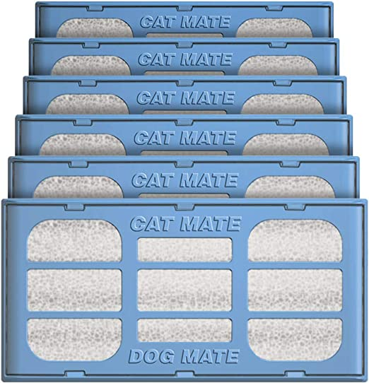 Pet Mate Genuine Replacement Filter Cartridges for Use with Cat and Dog Mate Pet Fountains, Pack of 6: Amazon.es: Productos para mascotas