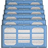 Cat Mate 6-Pack Replacement Fountain Filter Cartridges (Compatible with all Cat Mate / Dog Mate Fountains)