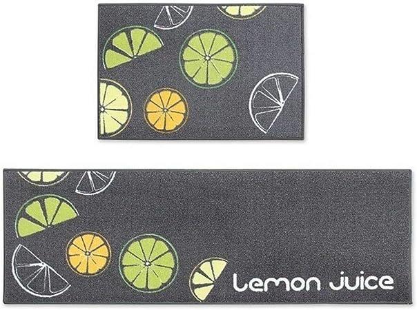 2Pcs//Set Kitchen Carpets Rugs Cartoon Washable Indoor Mats with 40*60cm+40*120cm