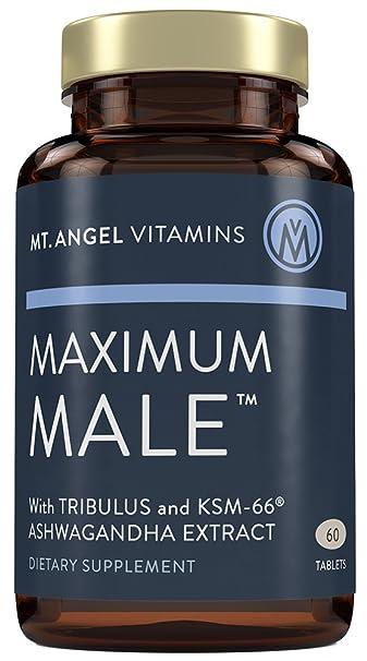 Mt  Angel Vitamins - Maximum Male with KSM-66 High Potency Ashwaganda,  Tribulus