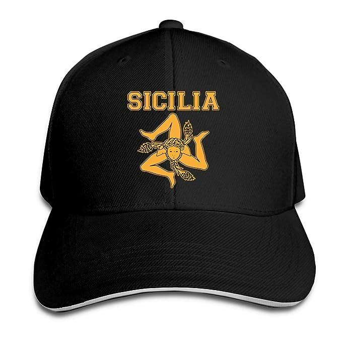 xinfub Gorra de Béisbol Unisex Siciliana Trinacria - Sombrero de ...
