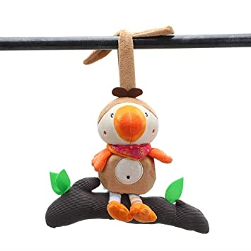 Baby Stroller Plush Soft Toys Crib Bed Hanging Animal Handbell Infant Rattle Toy