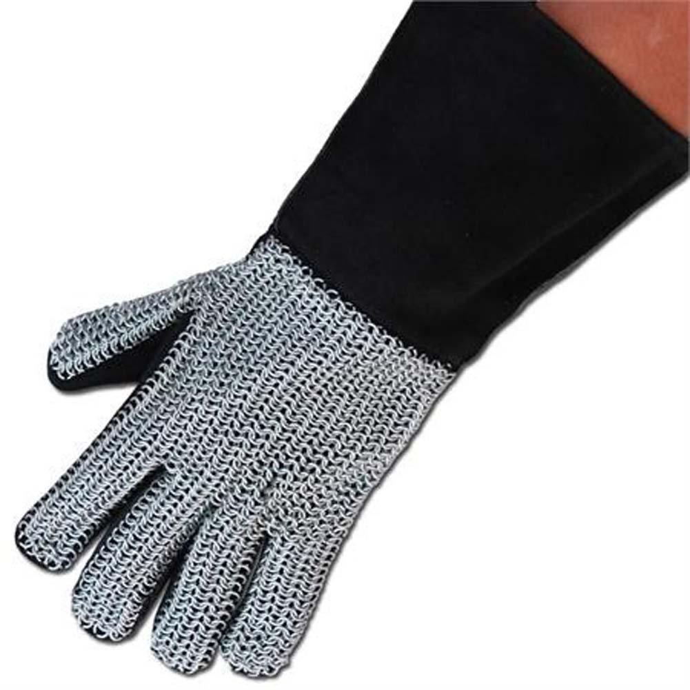 中世スエードChainmail手袋 B009BA49P2