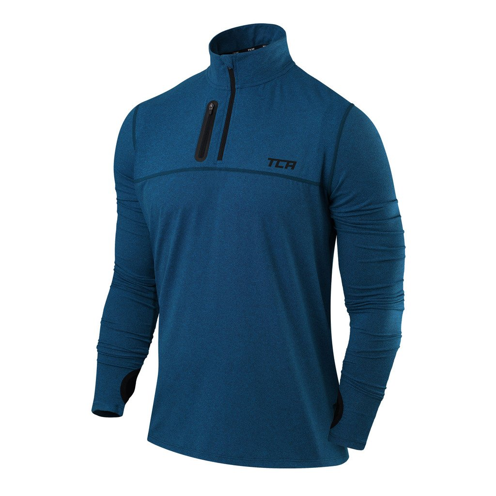 TCA Men's Fusion Pro Quickdry Long Sleeve Half-Zip Running Shirt Thorogood Sports