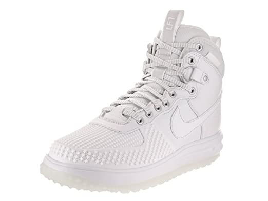 Nike Jordan Men's Lunar Force 1 Duckboot White/White Boot 11 Men US