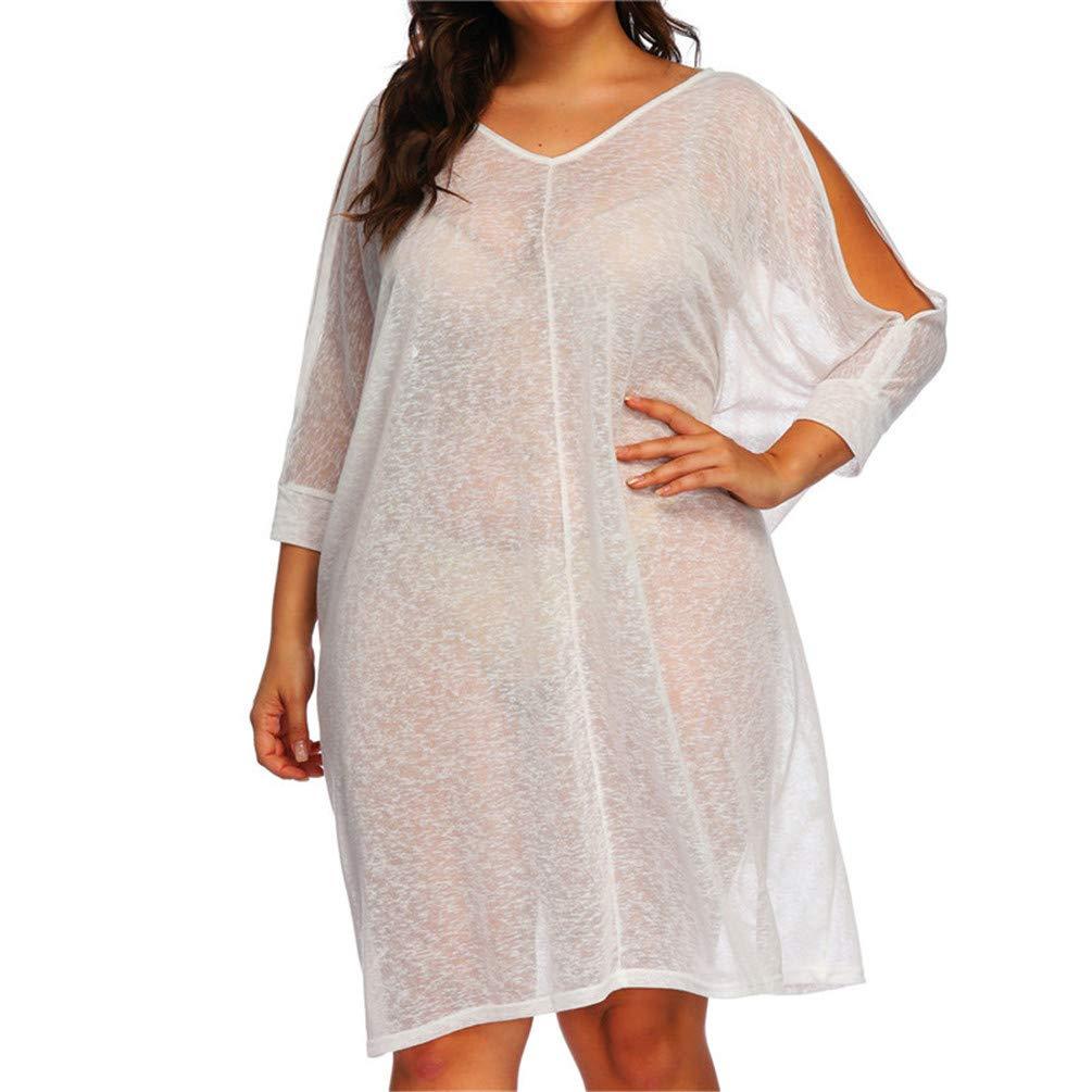 ONSEBCDRS Women Swimsuit Cover Up Swim Dress Beach Chiffon Beachwear Kaftan Swimwear Cover Ups
