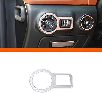 ABS Chrome Car Headlight Switch Decoration Frame Trim 1pc For Maserati Ghibli Quattroporte