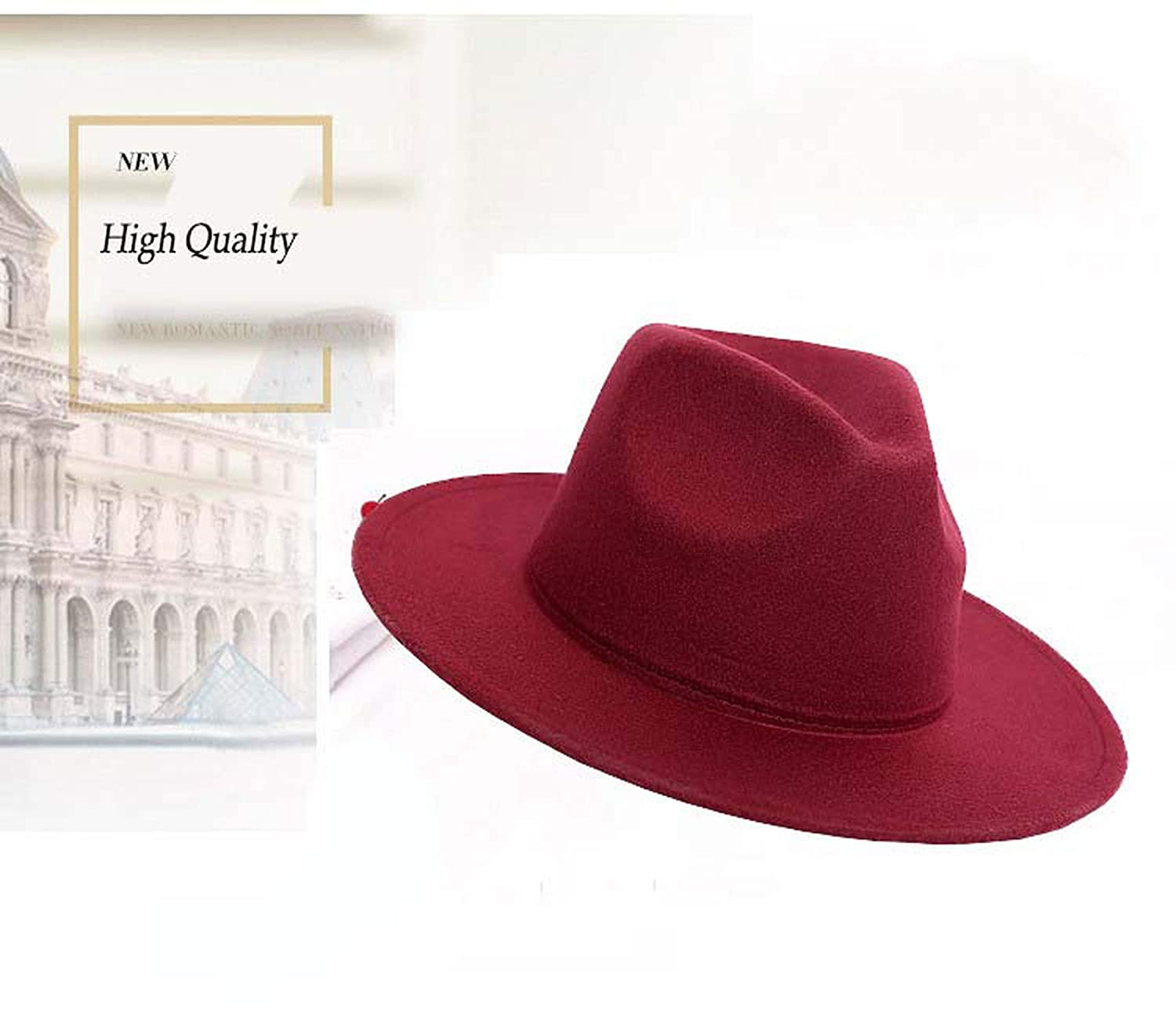 Size:54cm,Adjust Rope Retro HQ Wool Felt Kid Child Children Solid Color Panama Fedora Hat Vintage GangsterCap