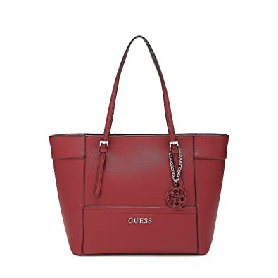 Bag Guess Shopping Saffiano SizeOne Effect Amazon Red co eD2EY9IHbW