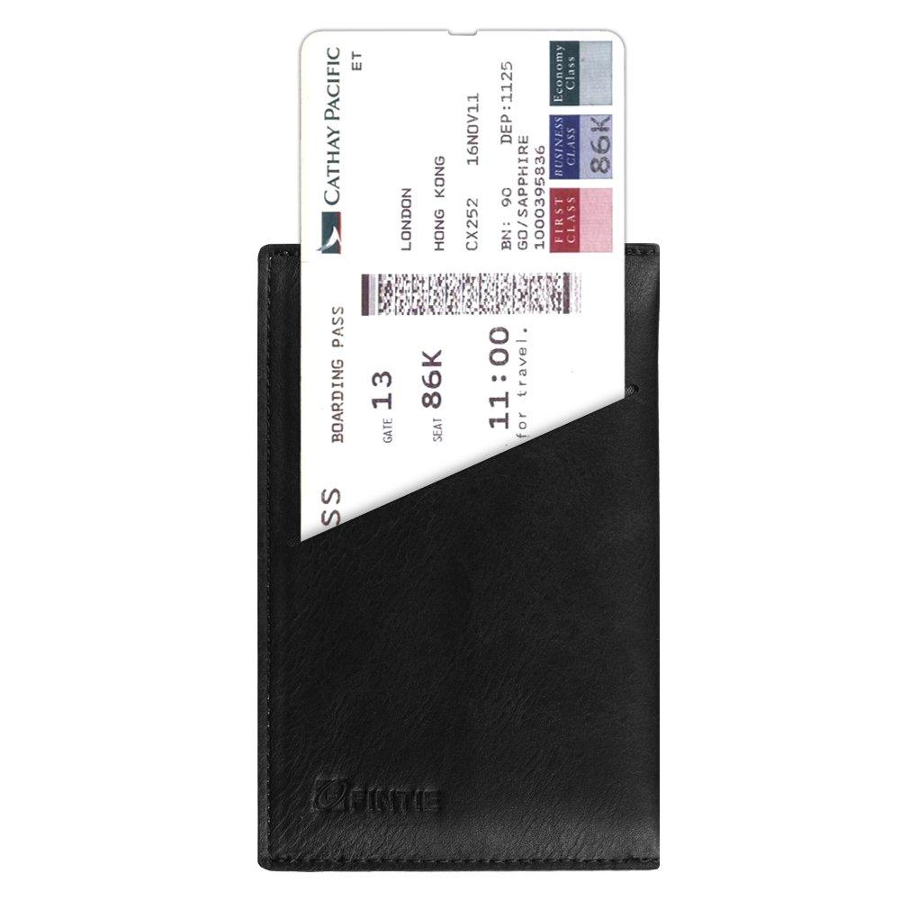 Ultra Schlank Premium Kunstleder Reisepass Schutzh/ülle Passh/ülle Halter Brieftasche mit RFID Blockier Weltkarte Fintie Reisepassh/ülle