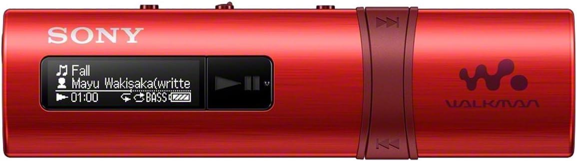 Sony Walkman NWZ-B183 - Reproductor de MP3 (4 GB), rojo