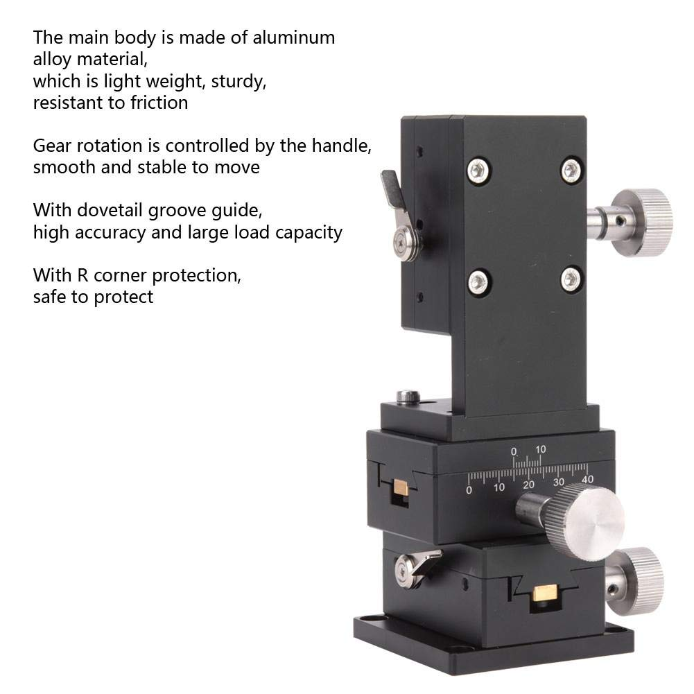 Adjustable Gear Guide High Accuracy Lifting Stage 40x60mm for Measuring Devices SPWXYZ40-60 Manual XYZ Trimming Platform