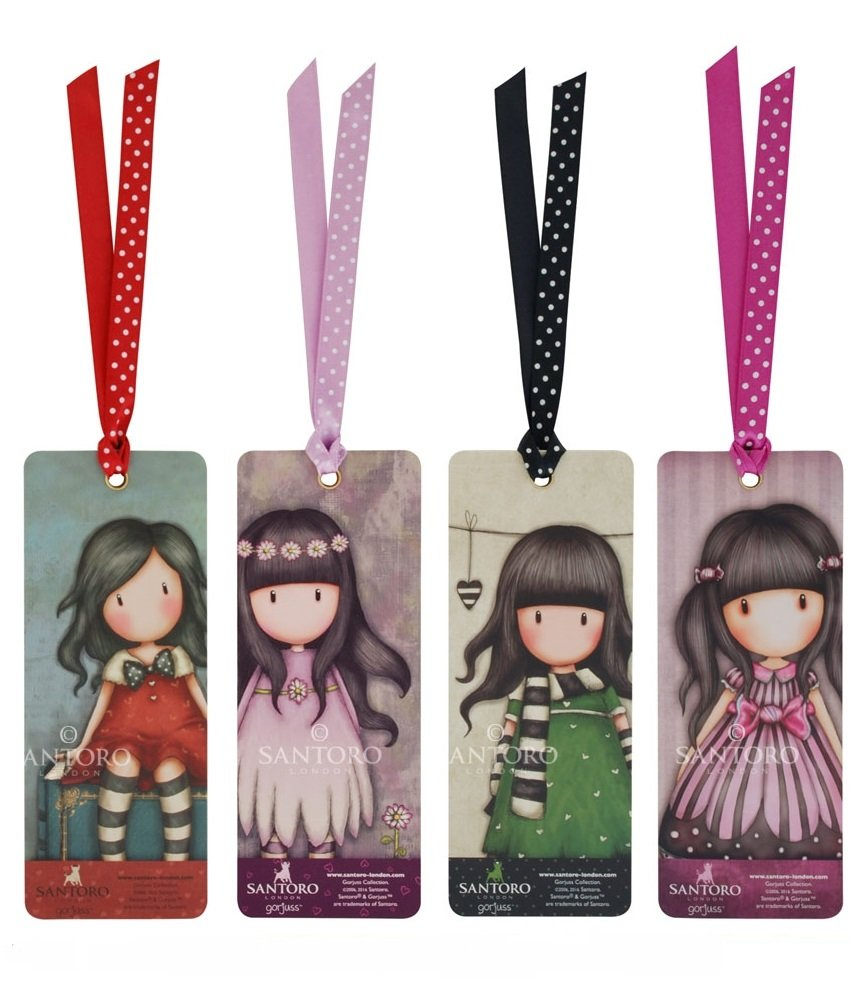 2e570d48a Amazon.com : 4 x Santoro Gorjuss Bookmarks - My Story, Oops a Daisy, The  Scarf, Sugar and Spice : Office Products