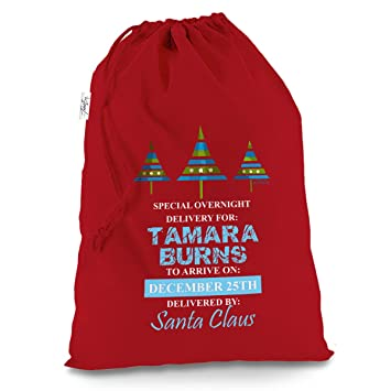 personalised christmas trees overnight delivery large red christmas santa sack mail post bag - Does Mail Get Delivered On Christmas Eve