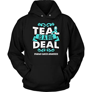 9be77ed573e JoyHip.com Teal is A Big Deal Ovarian Cancer Awareness Ribbon Gifts ...