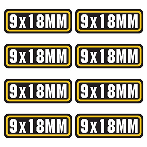 18 Mm Graphic - AZ House of Graphics 9X18MM ammo sticker 8 Pack