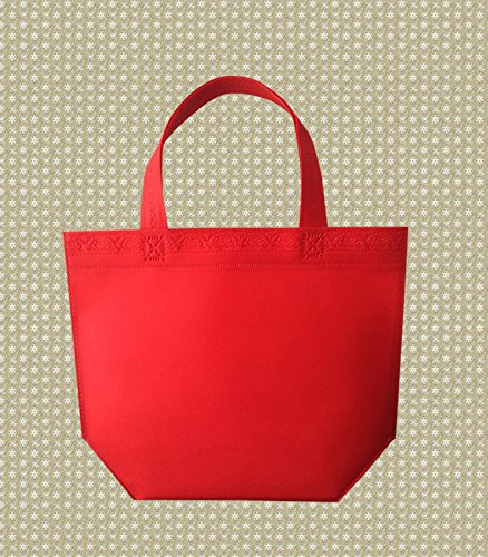 920b1f966 House Pack of 10 Natural Cotton Shopping Tote Bags - Shoppers L Red: Amazon. co.uk: Kitchen & Home