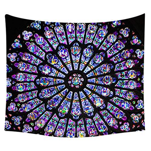 Paris Notre Dame Tapestry Wall Hanging Art Natural Digital Printing Souvenir Beach Towel For Living Room Bedroom Home Decor Background Cloth Yoga Hippie Handicraft ( I, 150x200cm)