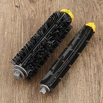 Escobilla de repuesto para robot aspirador Roomba 528 595 620 650 760 770 780 790: Amazon.es: Hogar